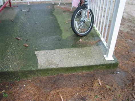 removing mold and mildew from a concrete patio yelp