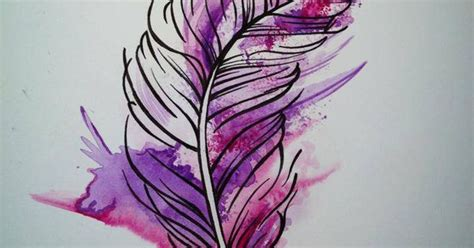 This Is The Feather Tattoo That I Want Just In Blue, Green