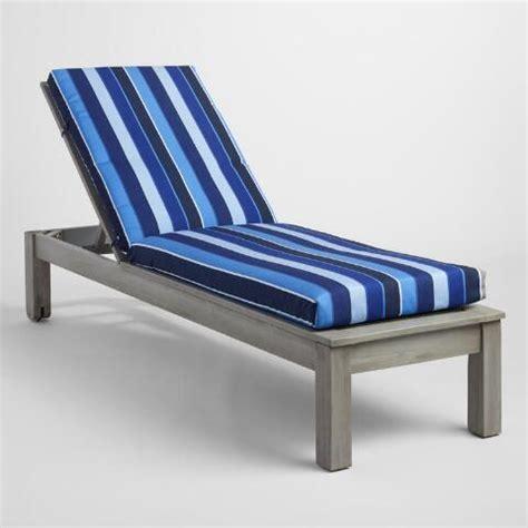 sunbrella cobalt blue outdoor chaise lounge cushion