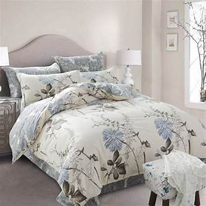 Full, Twin, Size, Plaid, Cotton, Luxury, Floral, Bedding, Sets