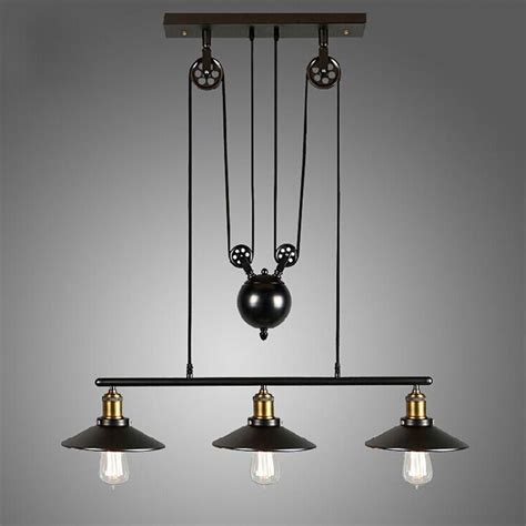 kitchen light fixtures island vintage pulley pendant loft ceiling light hanging l