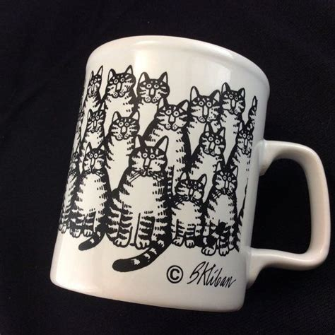 Check out our pottery coffee mug selection for the very best in unique or custom, handmade pieces from our mugs shops. B Kliban Cat Coffee Cup Mug | Cat coffee cups, Mugs, Cat coffee