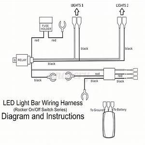 Wiring Harness Cable Led Light Bar Laser Rocker Switch 12v
