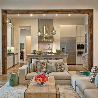 Open Kitchen And Living Room  Decoration For House