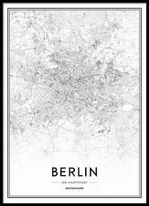 Berlin Schwarz Weiß Bilder : poster mit stadtplan von berlin schwarz wei poster mit st dten und karten ~ Bigdaddyawards.com Haus und Dekorationen