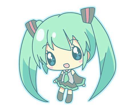 Chibi Kawaii Cute Anime Girl Miku Hatsune
