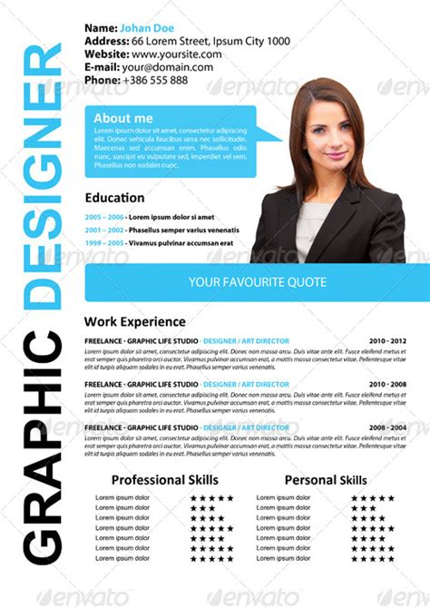 simple attractive cv by xstyler graphicriver