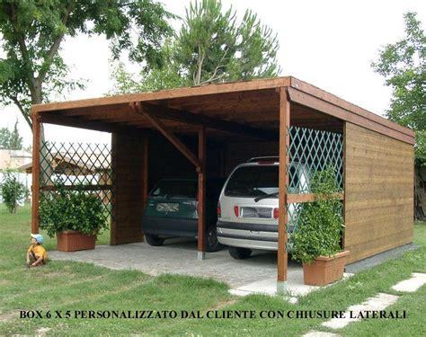 box legno auto modelli box auto in legno