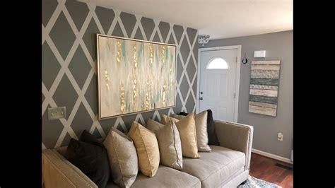 accent wall design  wallpaper diy living room
