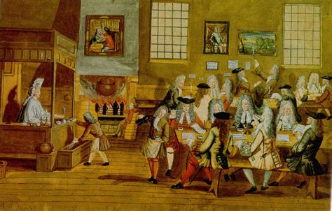Interior Of A London Coffee-house, 17th Century.jpg Coffee Table Book Uk Kramer Scrub With Shea Butter Wedding Album Philippines Purpose St Ives On South Africa Of Cats
