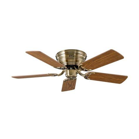 Ventilateur De Plafond Silencieux Flat De Casafan Un Ventilateur Pour Plafond Bas 103 Cm Silencieux Laiton Antique Chene