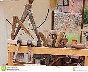 Old carpenter's workshop stock image Image of compass