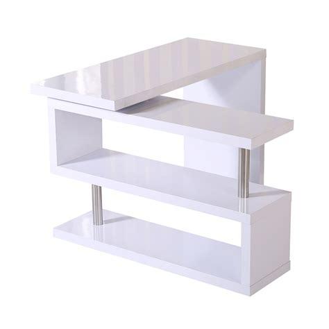 bureau angle informatique table ordinateur meuble bureau avec étagères multi angle