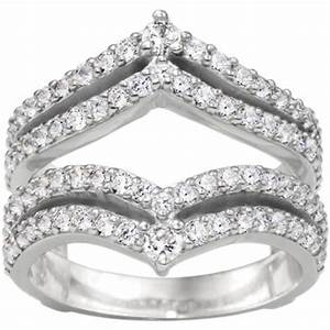 diamond wedding ring guard and enhancer mounted in 10k With wedding ring guard