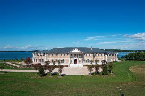 newly built waterfront brick mega mansion  oxford md homes   rich