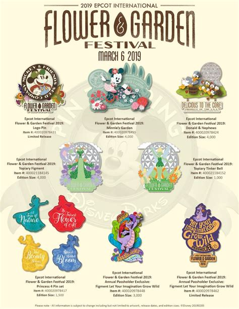 foto de Disney Pin Designs Released for 2019 Epcot International
