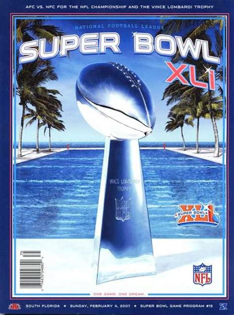 Nfl Super Bowl Xli Program Chicago Bears Vs Indianapolis