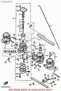 Yamaha Xj650l Maxim 1982  C  Usa Carburetor