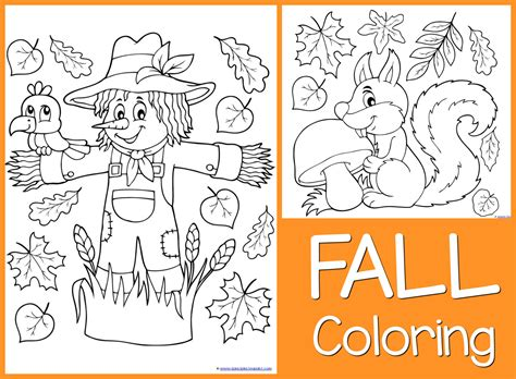 just color free coloring printables 928 | Fall Coloring