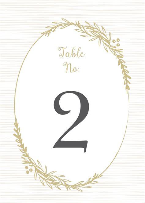 delicate laurel table number printables  basic invite