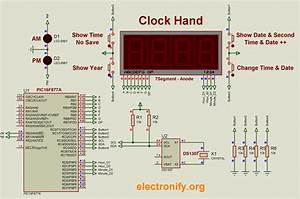 Ds1307 Based Hand Clock With Seven Segment Display Using