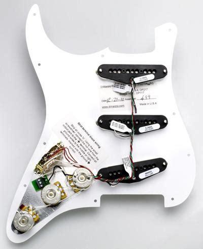 dimarzio area strat pre wired pickguard guitarpickups