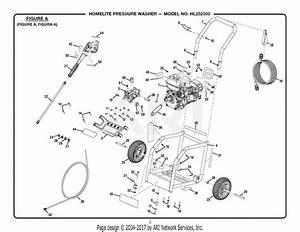 Homelite Hl252300 Pressure Washer Parts Diagram For Figure A