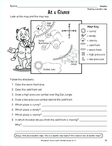 maps how to read a weather map worksheet map collection