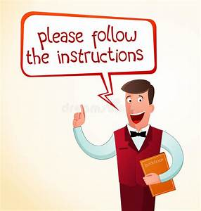 Give An Instruction Stock Vector  Illustration Of