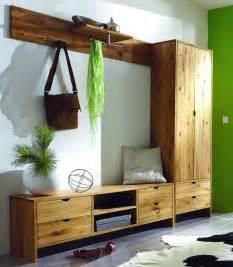 designer garderoben set massivholz garderoben set dielenmöbel flurmöbel wildeiche massiv geölt