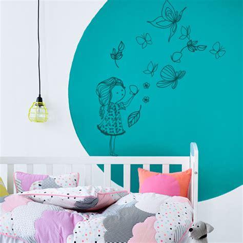 autocollant chambre fille sticker mural chambre fille grand oiseau arbre vinyle
