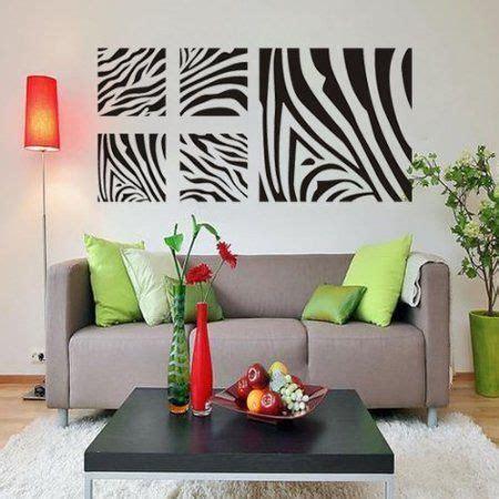 amazon com zebra print bedroom decor removable wall art