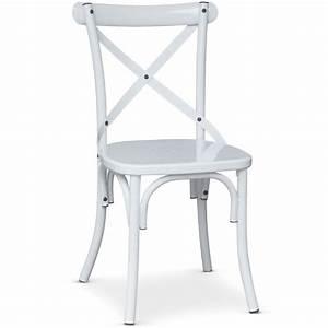 Chaise Bistrot Metal : chaise bistrot en m tal jenny 85cm blanc ~ Teatrodelosmanantiales.com Idées de Décoration