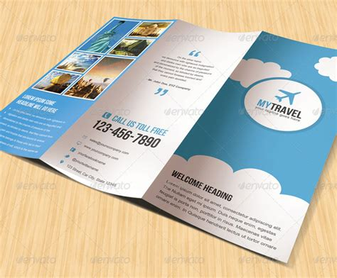 4 Fold Brochure Template 7 Best Sles Templates 15 Well Defined Travel Brochure Templates