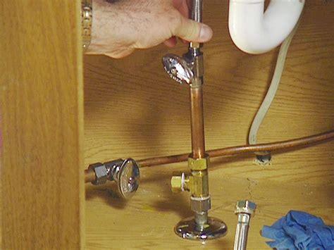sink water shut off valve how to install an under sink water filter how tos diy