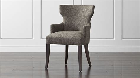 upholstered dining arm chair crate and barrel