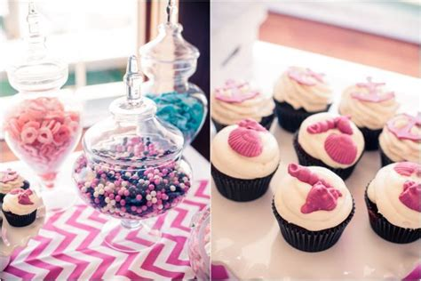 pink  blue nautical baby shower