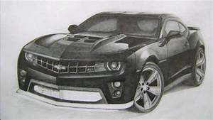 Рисуем / Drawing Camaro ZL1 2012 - YouTube