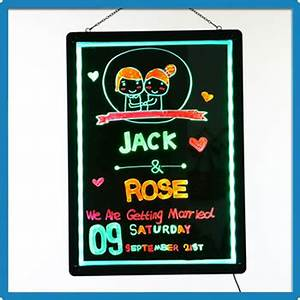 Factory Price Zd Acrylic Neon Signs Rgb5050 Led Writable