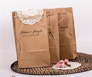 Large wedding favor bags personalized gift paper bag custom for Wedding favor gift bags