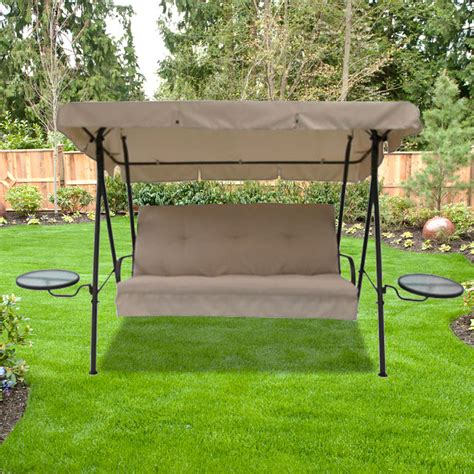 patio swing with canopy replacement canopy for side tables swing garden winds