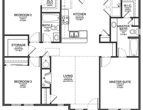 3 floor plans 50 3 bedroom open floor plan ranch house floor plans 1