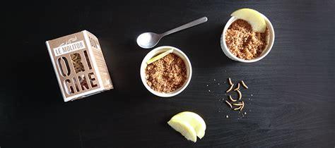 cuisiner les insectes cuisiner des insectes avec un crumble pommes molitors