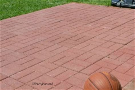 made by a diy paver basketball court