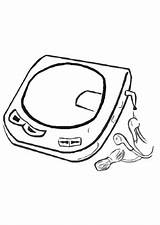 Cd Player Coloring Pages Drawings Getcolorings Edupics sketch template