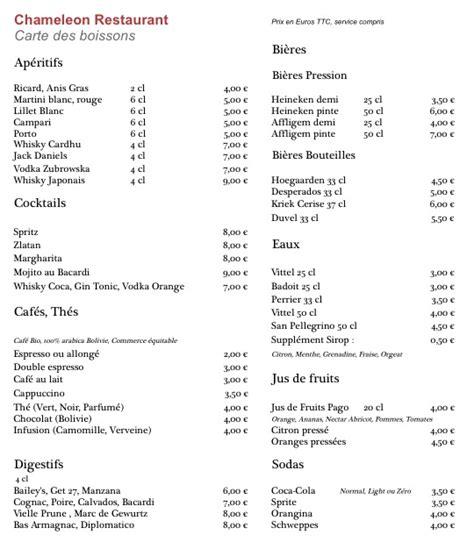 Carte Des Vins Boissons by Carte Des Boissons Caf 233 Bar Licence Iv