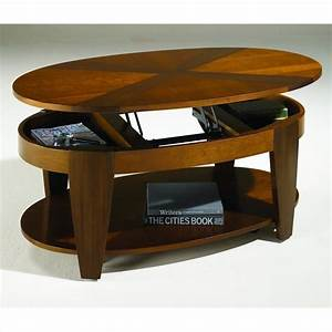 oasis oval cocktail table w lift top in cherry walnut With oval lift top coffee table