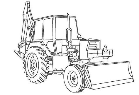awesome excavator  digger coloring page coloring pages