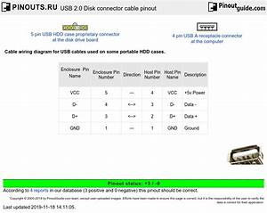 Usb 2 0 Disk Connector Cable Pinout Diagram   Pinouts Ru