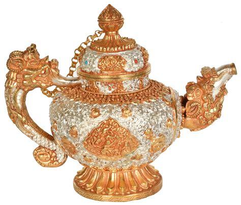 tibetan kettle ritual buddhist embossed harmonious nepal four brothers sculptures